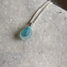 Small Teal Blue Northumbrian Multi Sea Glass Necklace by Northumbria Gems