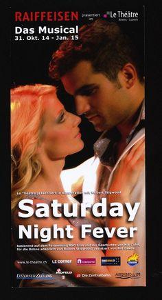 SATURDAY NIGHT FEVER - DAS MUSICAL - ORIG. FLYER SCHWEIZ - BEE GEES