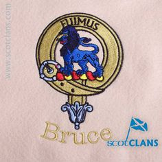 Clan Bruce (Family of Bruce) Custom Embroidery @scotclans. Free worldwide shipping available