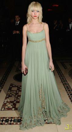 Marchesa Mint Sequin Grecian Dress...love!!