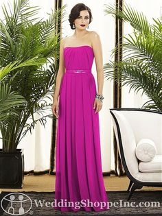 Dessy Bridesmaid Dress 2886. Who wouldn't want to wear this fabulous pink bridesmaid dress again?! http://www.weddingshoppeinc.com #pink #bridesmaid #wedding