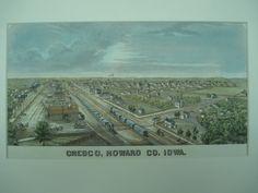 Original Sketch of Cresco in Howard County, Iowa, Cresco, IA, 1875, Unknown