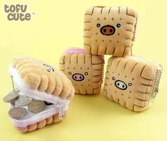 Piggy Biscuit Kawaii Plush Coin Purse | Flickr - Photo Sharing!