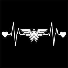 Wonder Woman Heartbeat Vinyl Decal Sticker | Cars Trucks ...