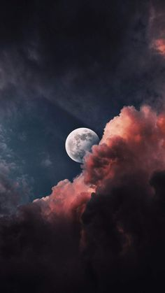 Moon Hiding In Clouds - IPhone Wallpapers