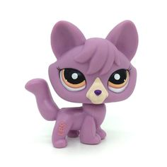 do1n LPS *1536 Littlest Pet Shop purple Wolf Puppy Dog Fox Animal TOY -- You can discover more information by seeing the photo web link. (This is an affiliate link). #cheam
