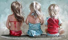 (by Maria Magdalena Oosthuizen (Maria Art) Handjies was Painting People, Painting For Kids, Art For Kids, Anime Comics, Beautiful Children, Beautiful Paintings, Belle Photo, Painting Inspiration, Watercolor Paintings