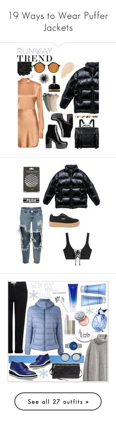 """19 Ways to Wear Puffer Jackets"" by polyvore-editorial ❤ liked on Polyvore featuring waystowear, pufferjackets, Acne Studios, Marc Jacobs, Gucci, Urban Decay, MANGO, Bobbi Brown Cosmetics, McQ by Alexander McQueen and Tom Ford"