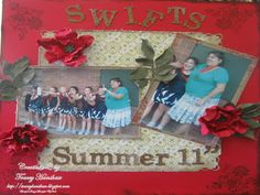 SCRAP BOOK PAGE LAYOUTS, NEW WITH STAMPIN  UP PRODUCTS