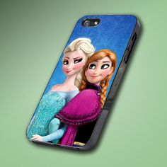 Frozen Disney Princess Elsa and Anna - Hard Case Made From Plastic or Rubber - For iPhone 4/4s, 5, 5c, 5s, iPod 4, 5, Samsung S3, S4 on Etsy, $14.89