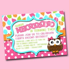 Girls' Guess Whooooo Owl DIY Printable by oneswellstudio on Etsy, $12.50