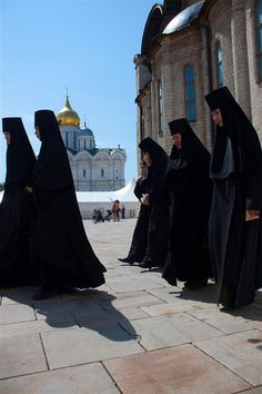 Orthodox nuns. This site has many other great photos of the Orthodox life.