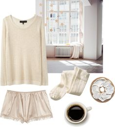 """""""sunday morning"""" by bonevear ❤ liked on Polyvore... Love this idea"""