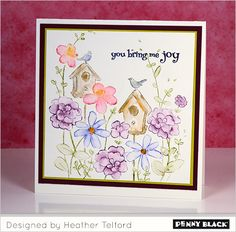 New stamps and dies from Penny Black... and a GIVEAWAY! Click through for details and more card ideas.
