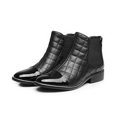 Women's Shoes Fashion Chunky Heel Leather Ankle Boots – GBP £ 52.43