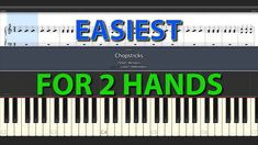 Chopsticks EASIEST for beginners fot two hands with + without sheet normal speed Piano tutorials for Everybody Chopsticks, Piano, Periodic Table, Tutorials, Hands, Easy, Periodic Table Chart, Running The Gauntlet, Periotic Table
