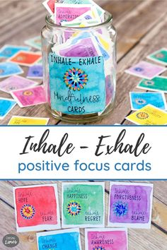 Inhale Positivity and Exhale all the stress and anxiety! Inhale Exhale printable cards come with inspiring messages to encourage mindfulness, reflection and a focus on positive energy. Life can get hectic and everyone needs time for self care! These calming cards are a good reminder to be more mindful, live with intention and enjoy the journey. Sharing these meditative positivity cards is a fun way to spread inspiration to family, friends, fitness Inspirational Message, Inspiring Messages, Motivational Cards, Meaningful Conversations, Inhale Exhale, Stress And Anxiety, Teen Stress, Choose Joy, Writing Skills