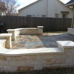 Austin Stone Patio | Flagstone Patio In Cedar Park With Built In Benches |  Backyard | Pinterest | Flagstone Patio, Cedar Park And Flagstone