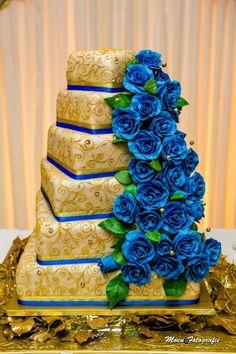 Indian Golden Lady Wedding Cake