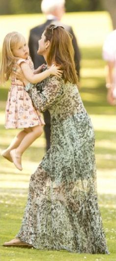 Crown Princess Mary and Princess Josephine during the annual Summer photo call for the Royal Danish family at Grasten Castle, Denmark on 24.07.2014
