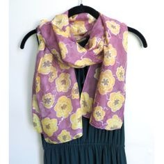 #mothersday #giftsformom Floral Hand-painted Silk Scarf