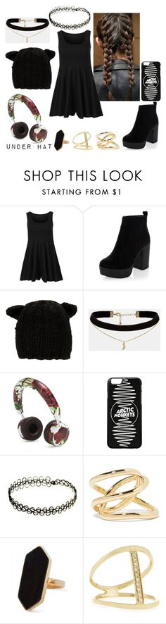 """""""Little Black Dress Dressed Down"""" by beautiful-tragic-love on Polyvore featuring New Look, Eugenia Kim, ASOS, Dolce&Gabbana, Jennifer Fisher, Jaeger, Sydney Evan and black"""