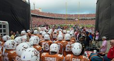 Longhorn football at the Cotton Bowl 2013 about to beat OU #hookem