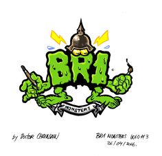Logo design for BR1 MONSTERS.