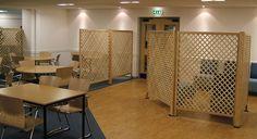Diamond trellis screens are being used for directional flow here. The Catering Manager still is able to see through the restaurant. Timber Screens, Bespoke Design, Trellis, Catering, Flow, Layout, Restaurant, Flooring, Diamond