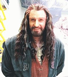 Thorin and his luscious locks bts