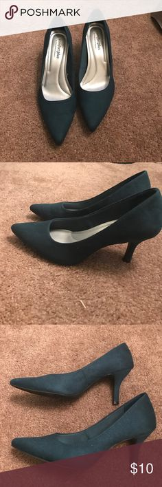 Green heels Worn only once, just downsizing Comfort Plus  Shoes Heels