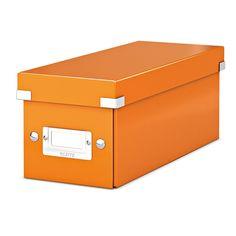 Leitz 6041 WOW CD-box oranje metallic  |  De Leitz 6041 CD-Box WOW oranje metallic heeft een modern ontwerp en is door de Click & Store technologie zeer gemakkelijk in en uit elkaar te klikken. Door het PP gelamineerde hardboard is deze CD opbergdoos beter beschermd tegen vuil en vocht. Daarnaast bevat deze CD-doos een etikethouder waardoor de disks beter te indexeren zijn.