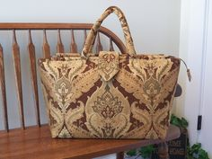 Bellagio Chenille Weekender #2272 My BIG Beautiful Bags all Handmade by Me~Tapestry Bag~Carpet Bag~School Tote~Beach Bag~Gym Bag by SignsofWelcome on Etsy