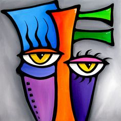 The best original abstract art, pop art, modern art, sculpture and modern painting. Large paintings with bright colors and bold lines that make you smile. Canvas prints are signed by hand. Artist: Thomas C. Fedro Title: Spanner Size: 30 x 30 x 1 MEDIUM: Abstract Faces, Abstract Art, Pop Art Collage, Art Pop, Cubist Art, Modern Pop Art, Chicago Artists, Art Moderne, Large Painting