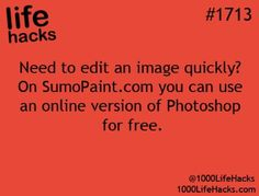 Life hack. - photo editing for free. Haven't tried, wonder how it compares to picmonkey