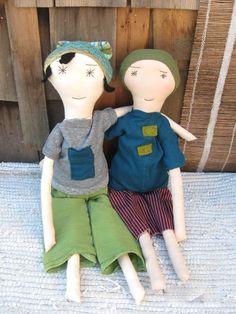Emmett Handmade Boy Doll  Soft Cloth Boy Rag by palomitaragdolls. , via Etsy.
