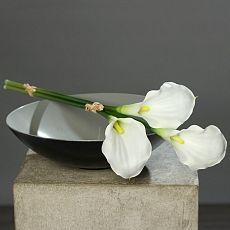 Buchet x3 cale artificiale albe - 50 cm