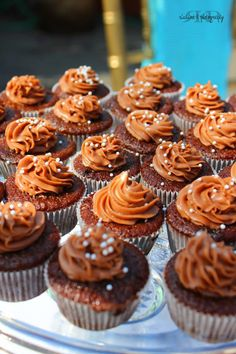 mini chocolate cupcakes for an event at the san diego county fair