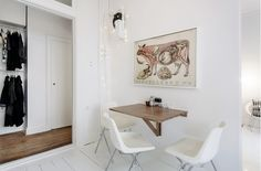 #Scandinavian space #living room... love the open closet.
