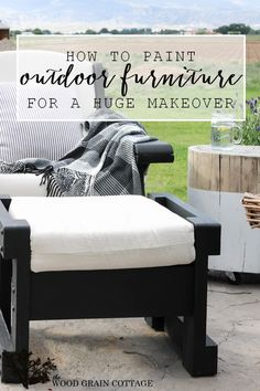 Maison Blanche Outdoor Furniture Paint Patio Furniture Makeover. By The Wood Grain Cottage