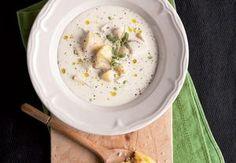 Smetanová polévka (Rahmsuppe)