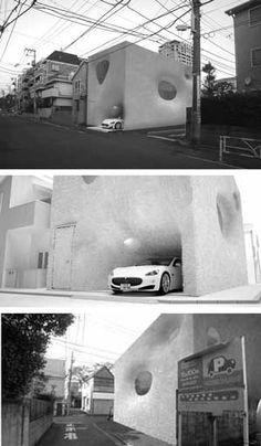 Hairy-House-Tokyo. Architect Andrea Morgante, Shiro Studio.