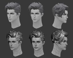 3d Model Character, Cyberpunk Character, Character Modeling, Character Design, 3d Modeling, Fade Haircut, Free Hair, Zbrush, Sculpting