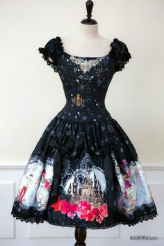 Haenuli  Dreaming Cinderella  Junperskirt type    black color