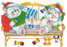 Imagens para Decoupage: Ursinhos cuties para decoupage