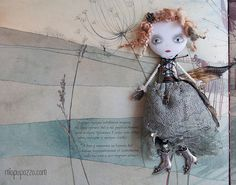 Steampunk Princess Art Doll Brooch mixed media by miopupazzo