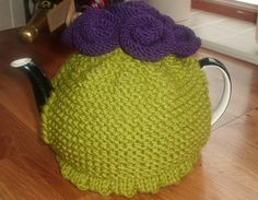 Knitted Tea Cosy by LittleDaisyKnits on Etsy