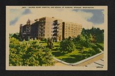 Sacred Heart School of Nursing in Spokane, Washington was affiliated with Sacred Heart Hospital and the Sisters of Providence. Operated from Image source: East Carolina University Digital Collections. Sacred Heart Hospital, East Carolina University, Spokane Washington, Nursing Schools, Image Sources, Sisters, College, Collections, Digital