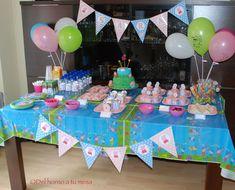 imagenes para crear e imprimir de tarjetas cumpleaños peppa pig - Buscar con Google 3rd Birthday Parties, Birthday Party Decorations, Boy Birthday, Simple Centerpieces, Pig Party, Dessert Table, Alice, Party Time, Birthdays