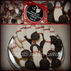 Bowling favor cookies